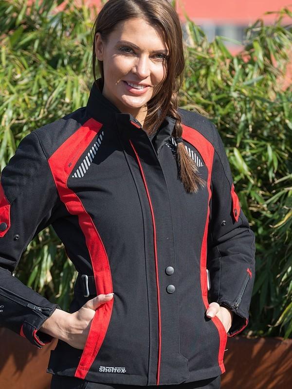 Cortina Sheltex Dames Jas Zwart/Rood