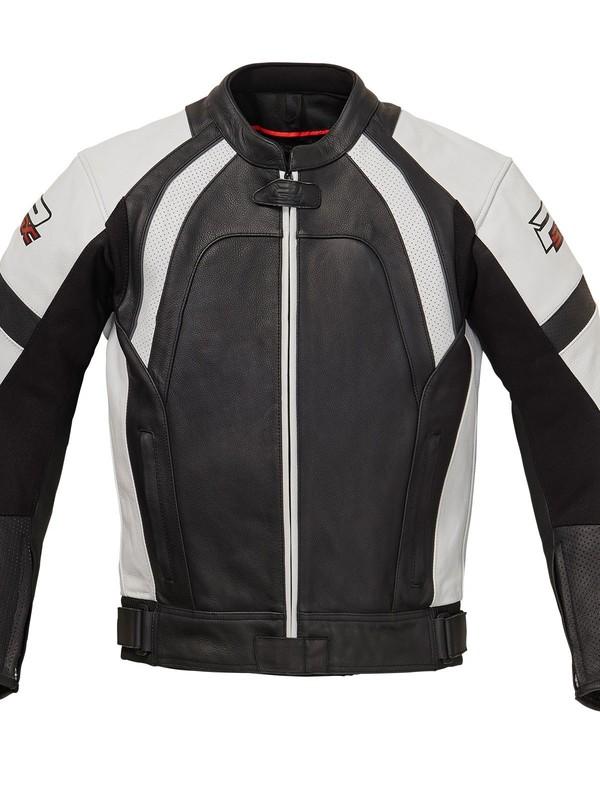 PSX Aragon Combi Lederen Jas Zwart/Wit