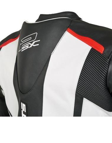PSX Track Combi Lederen Jas Zwart/Wit