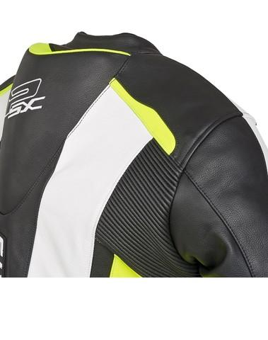 PSX Track Combi Lederen Jas Fluo/Zwart/Wit
