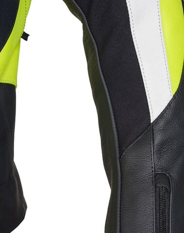 PSX Shifter Combi Lederen Jas Zwart/Fluogeel