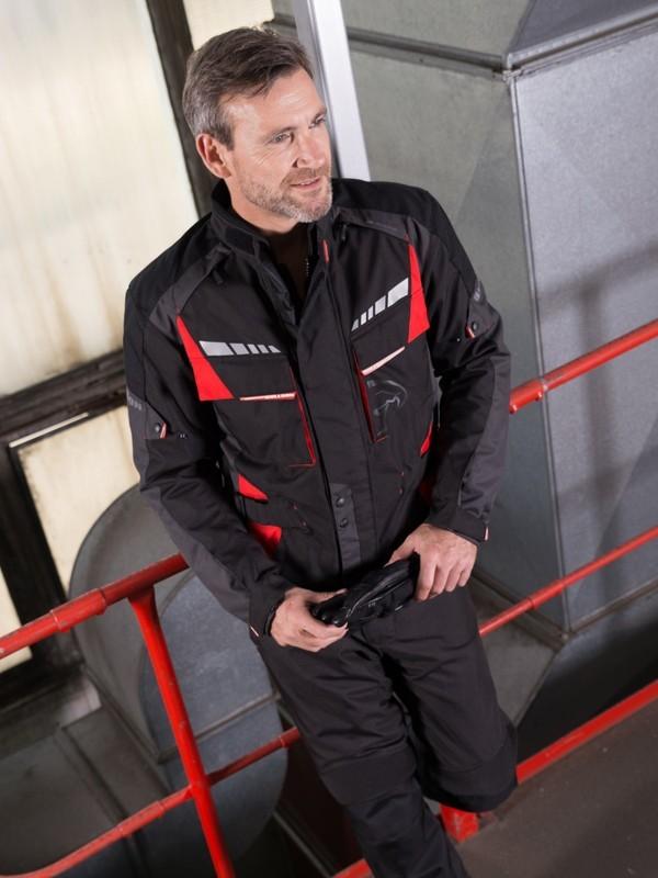 Bullson Ancona Sheltex Jas Zwart/Rood