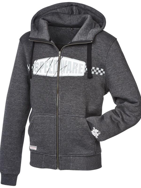 Speedware Zip Hoodie Sweater Met Kap Grijs