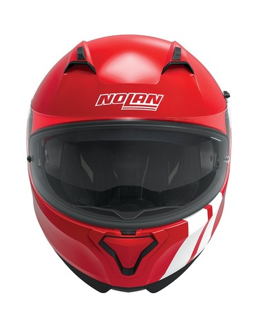 Nolan N87 Full Face Helm Martz N-Com Corsa Rood