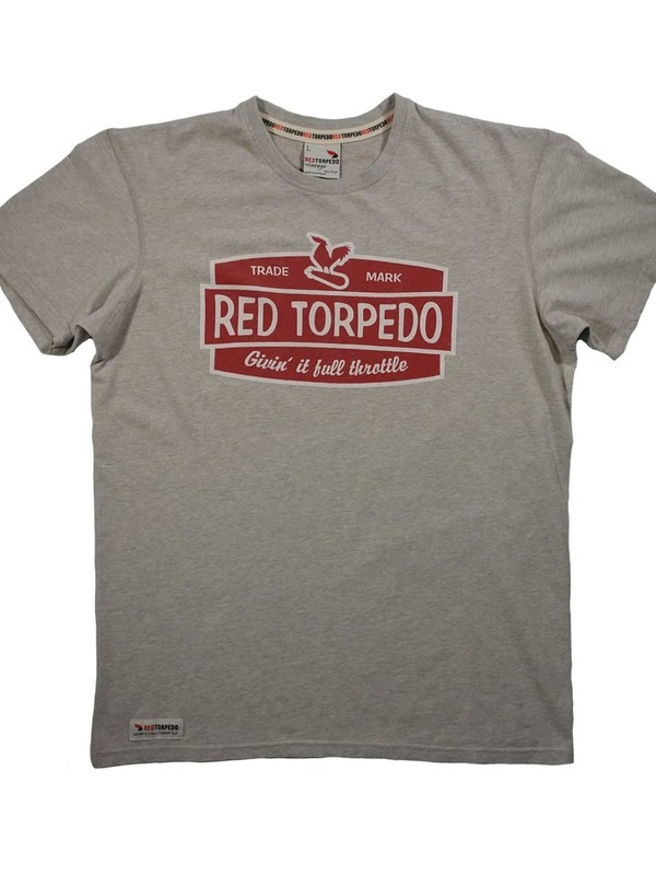 Red Torpedo Shirt Retro Grijs