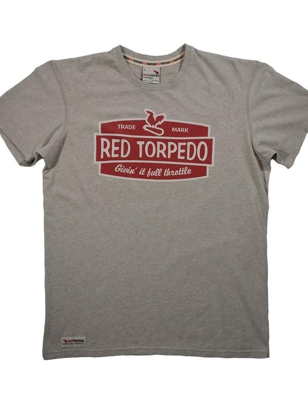 Red Torpedo T-Shirt Retro Grijs