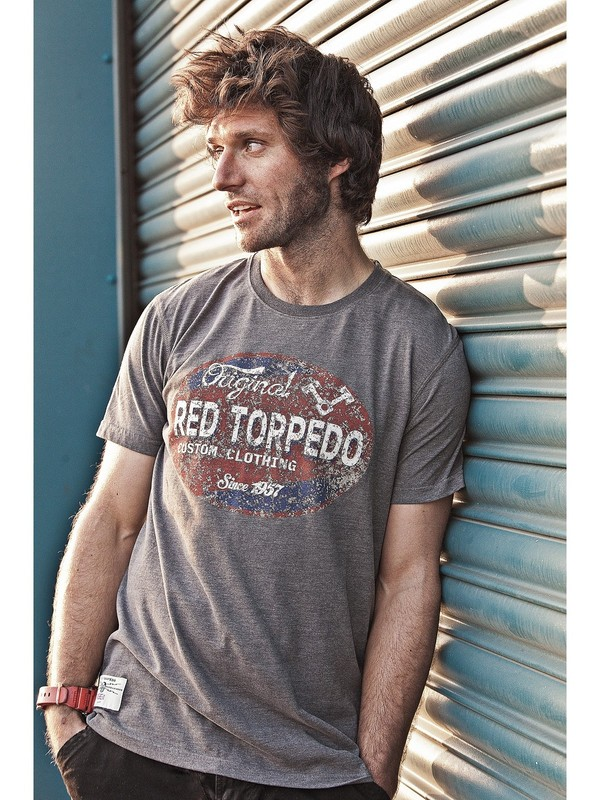Red Torpedo T-Shirt Pumphead Graphite