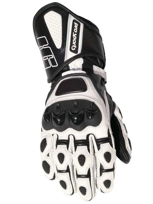 Alpha Racing Handschoen Zwart/Wit