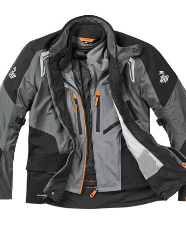 Tuareg Travelmate Sympatex jas 3 in 1 Grijs/Zwart/Oranje